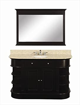 32 in. L x 46 in. W Framed Wall Mirror in Espresso