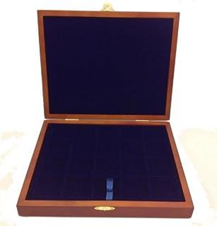 Wooden Presentation Coin Case Box for 79 Coins  with 3 Blue Velour Trays  sc 1 st  Amazon UK & Deluxe Presentation Box for crown coin/Silver Britannia Black ... Aboutintivar.Com