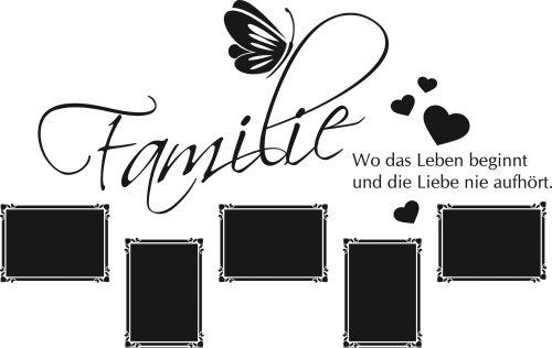 Graz Design 160004_57_070 Wandtattoo Fotorahmen Bilderrahmen Familie Herz Schmetterling