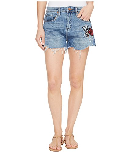 仮定毎週シャット[ブランクニューヨークシティー] Blank NYC レディース Denim Cut Off Shorts with Embroidered Detail in Inside Joker パンツ [並行輸入品]