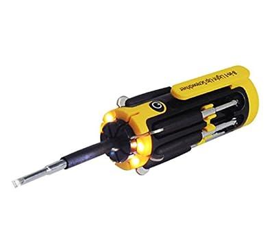 WIREHARD Unique Multifunction tool - Precision Screwdriver Set - Bright LED Flashlight, Portable & Foldable Screwdriver - Home Repair Tool Kit & Car Tool Kit & Hand Tools & Installation Kit by WIREHARD
