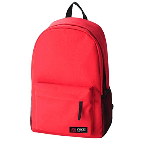 Liceo Zaino Moda Casual Studentesse Tinta Maschile Tote Spalla Rosso Neutro Donna Vicgrey Unita E5w46qW6