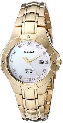 Seiko Women's SUT168 Analog Display Japanese Quartz Gold Watch