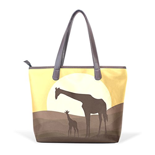 fourre M cm muticolour Mère cuir grand COOSUN tout en girafe fourre PU poignée à Sac et Sacs bébé tout bandoulière 40x29x9 RXHxqxTwd