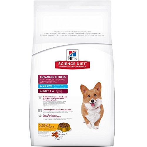 Hill's Science Diet Adult Advanced Fitness Dog Food, Small Bites Chicken & Barley Recipe Dry Dog Food, 17.5 lb Bag