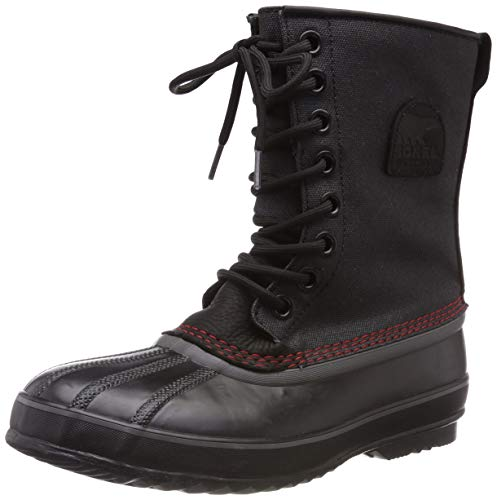 Sorel Men's 1964 Premium T CVS Snow Boot, Black, Sail Red, 11 D US