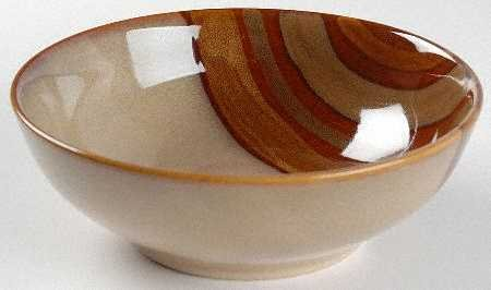 Sango Avanti Brown Soup/Cereal Bowl, Fine China Dinnerware