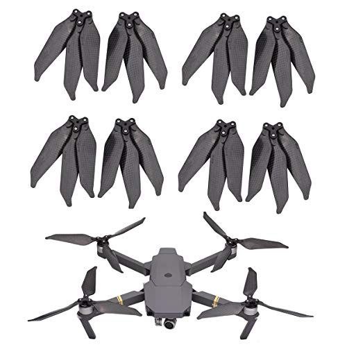 Fasmodel - 8pcs 8331 Carbon Fiber Low Noise Propeller for DJI Mavic Pro Drone 3-Blade Props Wing Replacement Kits for Mavic Pro Platinum