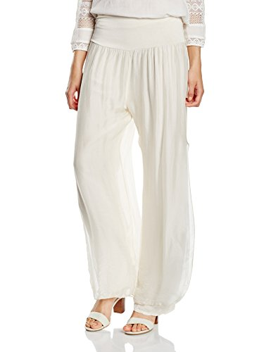 Zabaione Seidenhose, Pantalones para Mujer Beige (Beige 20000)