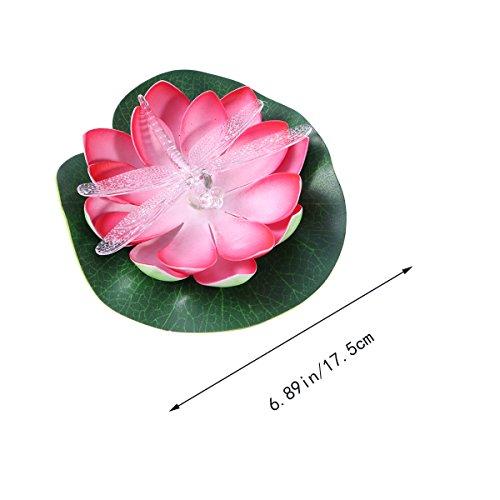 Led Alimenté Lumière Ledmomo Fleur Flottant Solaire Lotus n8POk0w