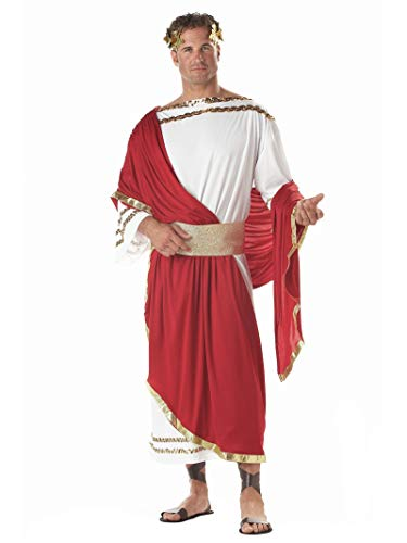 California Costumes Men's Adult-Caesar, Red/White, Standard Costume