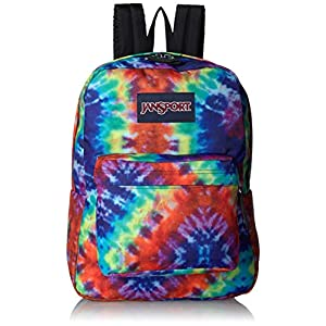JanSport Superbreak Backpack - Lightweight School Pack, Red Hippie Days 1