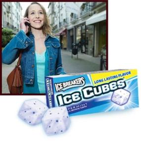 Ice Breakers Ice Cubes Sugar Free Peppermint Gum