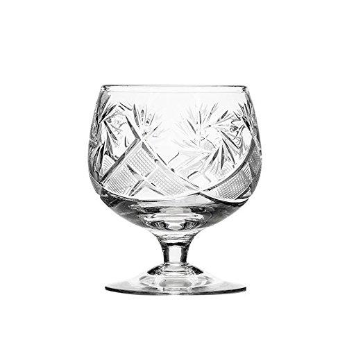 JOZEFINA ATELIER 6 Piece Neman Crystal Brandy Glasses, 7 oz, Clear