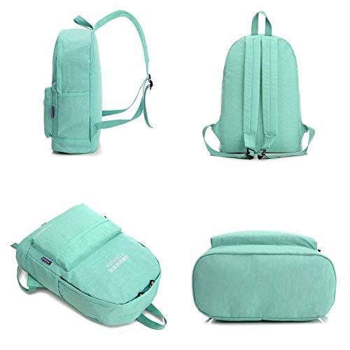 Viaggio In Violascuro Impermeabile Borsa Joker Zaino Fashion Leggera Grande Donna Capacità Da Studente Nylon FqpfWpU0Aw
