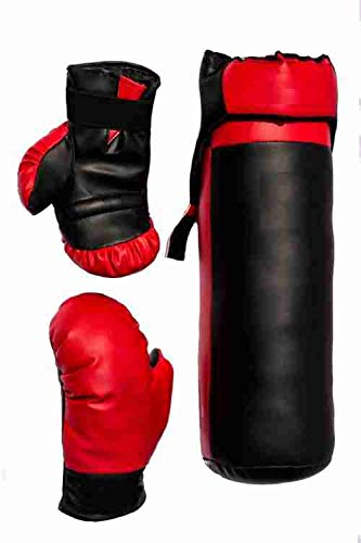 SG FITNESS Red and Black Color Junior Boxing Kit