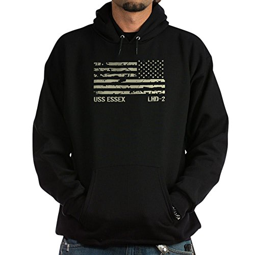 CafePress USS Essex Pullover Hoodie, Classic & Comfortable Hooded Sweatshirt Black