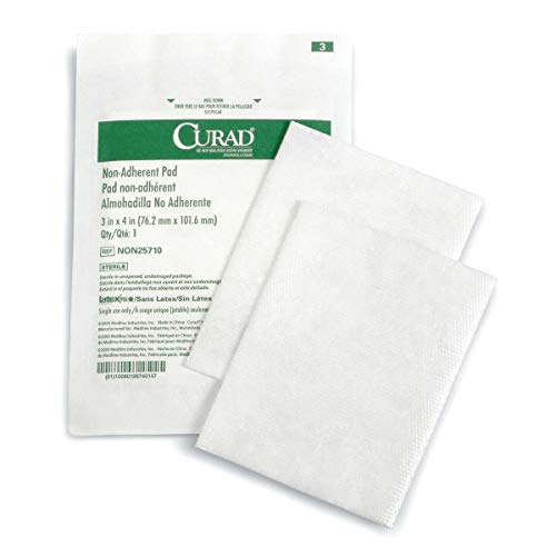 Non Adherent Pad - Curad Sterile Non-Adherent Pads (Pack of 100) for gentle wound dressing and absorption without sticking