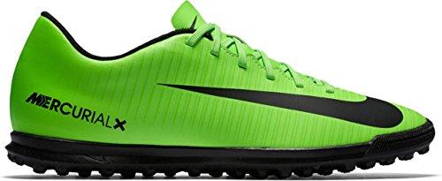 Nike Mercurialx Vortex Iii Tf, Botas de Fútbol para Hombre verde/negro