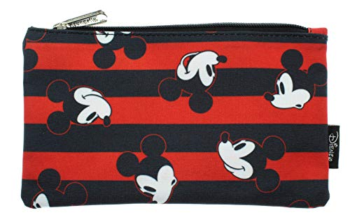 Disney Mickey Mouse Pencil Case Pouch Holder Stripes Print