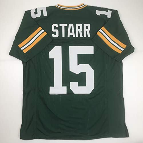 - Unsigned Bart Starr Green Bay Green Custom Stitched Football Jersey Size XL New No Brands/Logos