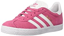 adidas Originals Unisex Gazelle Sneaker, White/semi Solar Pink, 4.5 M US Big Kid