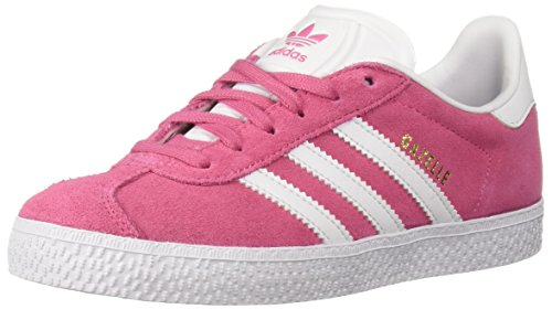 Girl Fashion Sneaker - adidas Originals Unisex Gazelle Sneaker, semi solar pink/white/semi solar pink, 1 M US Little Kid