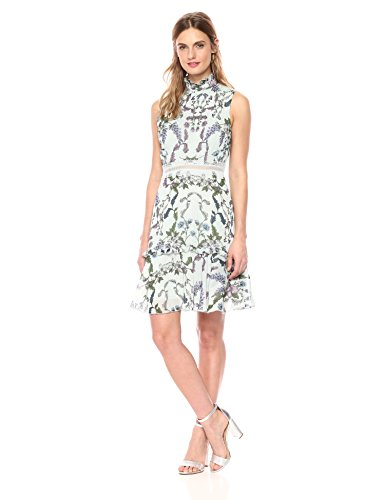 Donna Morgan Women's Sleeveless Chiffon Fit Flare Dress