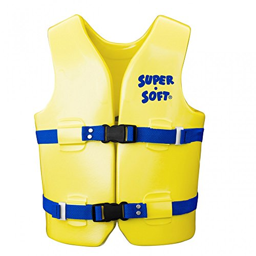 Vinyl Coated Foam (USCG Approved Child's Vinyl-Coated Foam Swim Vest - Medium - Yellow w/ Blue Strap)