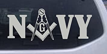 3 Military Freemason Car Decal