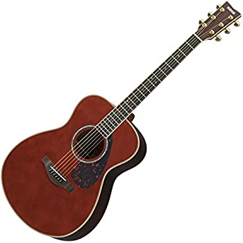 yamaha l series ls16 ls16 concert size acoustic electric guitar with gig bag dark. Black Bedroom Furniture Sets. Home Design Ideas