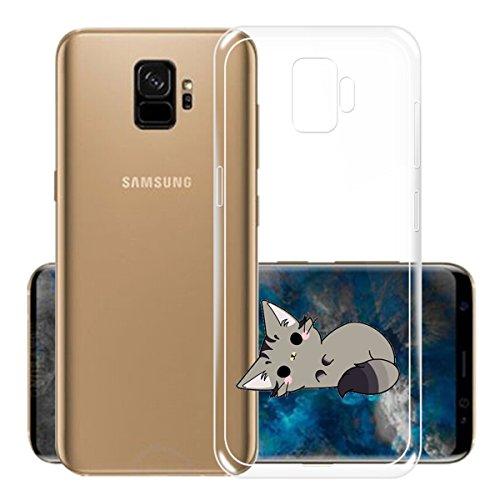 Funda para Samsung Galaxy S9 , IJIA Transparente Rojo Pequeño Meng Pet TPU Silicona Suave Cover Tapa Caso Parachoques Carcasa Cubierta para Samsung Galaxy S9 (5.8) WM131