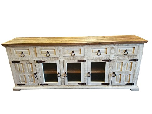 Hi End Rustic Medieval Hand Scrape TV Stand Buffet 80 Inch Long (80 inch, Wheathered (Long Buffet)