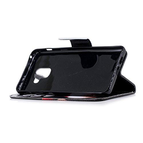 A8 peint cas pour de en support cuir fente fermeture aérosol A730F Corky Galaxy Plus Flip d'impression A8 avec Hozor en avec portefeuille magnétique 2018 carte PU Samsung protection étui conception BfZ7Fxat