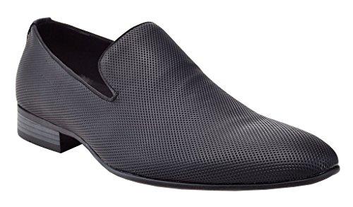 Franco Slippers Men's On Velvet Club Slip Embroidered Dress Smoking Black Night Loafers Vanucci Shoe gr74Zqgx