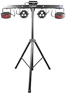 CHAUVET DJ GIGBAR 2 4-in-1 LED Lighting System w/2 LED Derbys, LED Wash Light, Laser, & 4 LED Strobe Lights | Laser & Strobe Effects by Chauvet Lighting