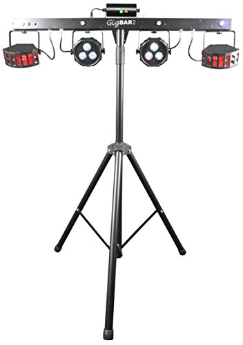 Derby Led Light (CHAUVET DJ GIGBAR 2 4-in-1 LED Lighting System w/2 LED Derbys, LED Wash Light, Laser, 4 LED Strobe Lights | Laser & Strobe Effects)