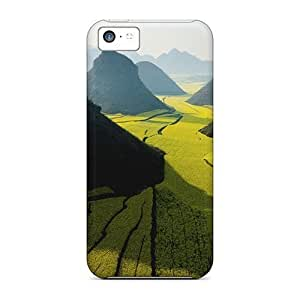 Durable Defender Case For Iphone 5c Tpu Cover(mountain Fields Nature)