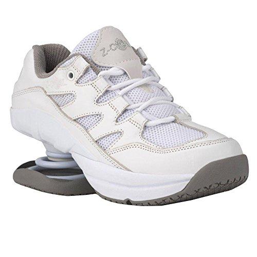 Z-CoiL Women's Freedom Slip Resistant White Leather Tennis Shoe 9 C/D US