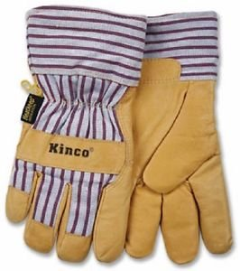 Kinco Intl Large Lined Pigpalm Glove 1927L Thermal Lined Leather Gloves ()