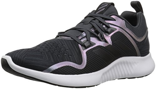 adidas Women's EdgeBounce Running Shoe, Carbon/Black/Night Metallic, 7 M US