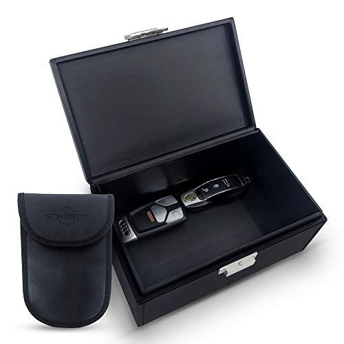 Ironstripe Faraday Box voor Autosleutel | XL 19x12x9 cm Anti-Diefstal Kluis |Keyless Entry Signaalblokkering | Anti…