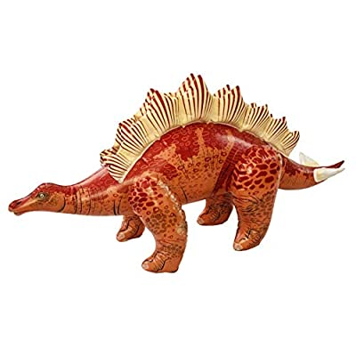Universal Specialties 46 Inch Long Inflatable Stegosaurus Dinosaur (Red): Toys & Games