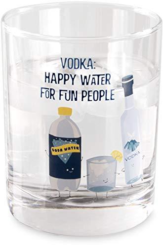 Pavilion - Vodka: Happy Water For Fun People - 11 oz Low Ball Rocks Glass