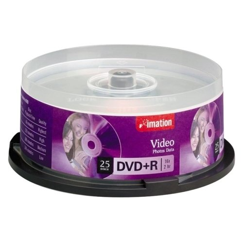 Imation Dvd+R,16X,4.7Gb,Branded,Single-Sided,Write Once,25/Pk,Sr - Imation Dvd+R,16X,4.7Gb,Branded,Single-Sided,Write Once,25/Pk,Srbranded Dvd+R Offers A Write-Once Format With Up To 4.7Gb Of Storage
