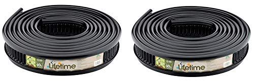 (Master Mark Plastics 25840 Lifetime Landscape Edging 5 Inch by 40 Foot, Black (Pack of 2))