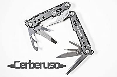 Multitool By Cerberuso. Speciality 13 in 1 High Quality, Versatile Hand Tool. Perfect for Camping, Hiking, Survival, Military, Hunting, Home, Car, Office, Outdoor & DIY tasks. FREE Nylon Sheath. from Cerberuso