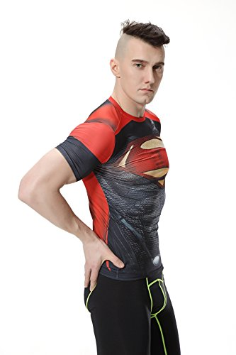 Compression Fitness Sport Courtes Superhéros shirt Homme Collant Cody T Tops Superhero Manches Lundin OwIfZxBq