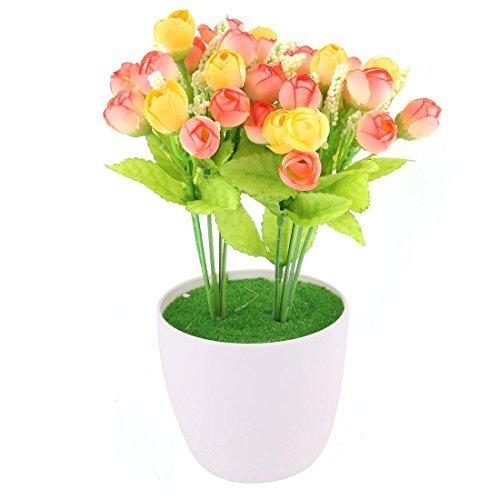 eDealMax plástico Home Office artificiales de Rose Craft Maceta Flor de escritorio de la decoración de la Tabla B07GLC66HG