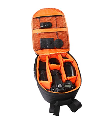 CHENGYANG Fotorucksack SLR-Kamerarucksack Foto Rucksack Rot Orange